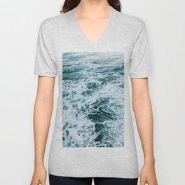 blue ocean tides Unisex V-Neck