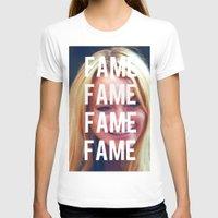 lindsay lohan T-shirts featuring FAME - LINDSAY LOHAN by Beauty Killer Art