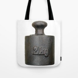 Old balance weight - two kilograms Tote Bag