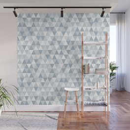 shades of ice gray triangles pattern Wall Mural