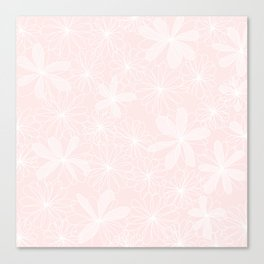 Daisies in Love - Floral Daisy Summer Pattern Canvas Print