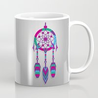dreamcatcher Mugs featuring Dreamcatcher by Angel Decuir