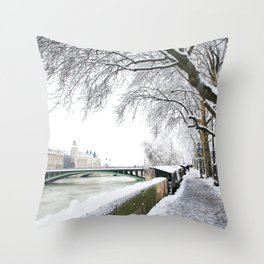 Notre-Dame Bridge,Paris Throw Pillow
