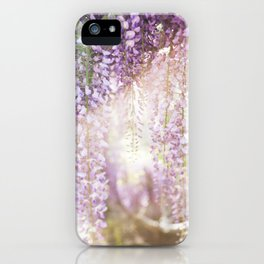 Caught the Light ... in Wisteria  //  The Botanical Series iPhone Case