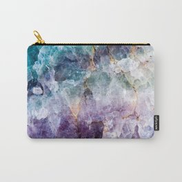 Turquoise & Purple Quartz Crystal Carry-All Pouch