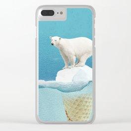 Polar ice cream cap Clear iPhone Case