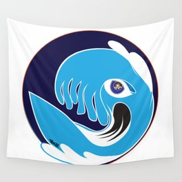 Waveboarder Smiley Wall Tapestry