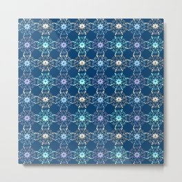 Christmas holiday snowflakes pattern. Metal Print