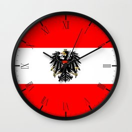 Austrian Flag and Coat of Arms Wall Clock