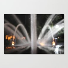 Fountain/Water/Night Canvas Print