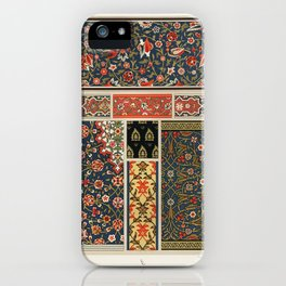 Indo-Persian pattern from L'ornement Polychrome (1888) by Albert Racinet (1825–1893). iPhone Case