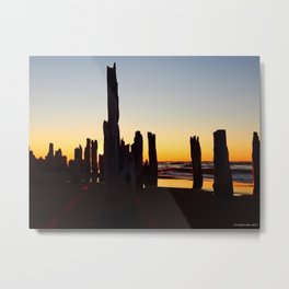 Sticks and Sun at the Beach Metal Print