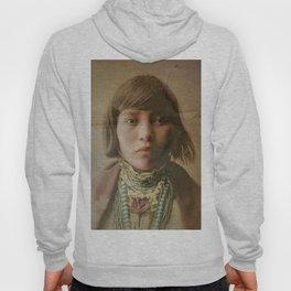 Young Native American Girl 1904 Hoody