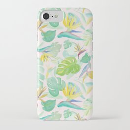 Birds of Paradise Pattern iPhone Case