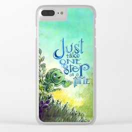 Just take one step at a time Clear iPhone Case
