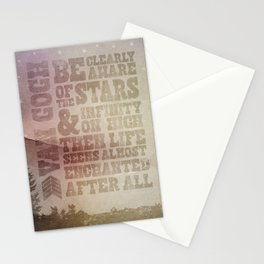 Be Clearly Aware Of The Stars - Van Gogh Quote Stationery Cards