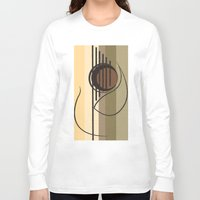 guitar Long Sleeve T-shirts featuring Guitar by Justis Rivera