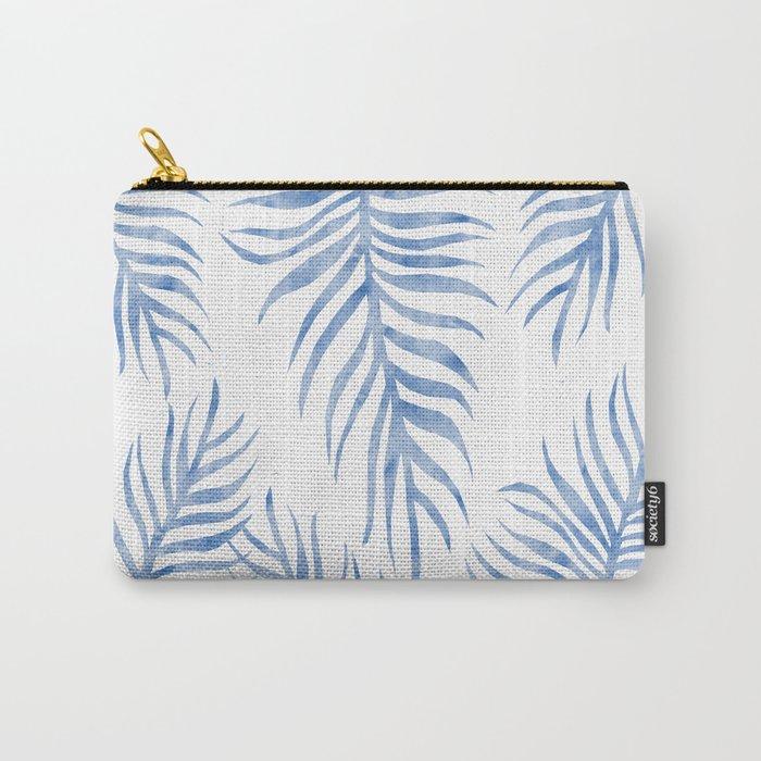 Fern Pattern Blue Carry-All Pouch