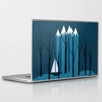 sailing Laptop & iPad Skins featuring Sailing by Illusorium