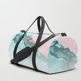 Mountains Are Calling Typography Design Duffle Bag