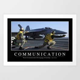 Communication: Inspirational Quote and Motivational Poster Art Print