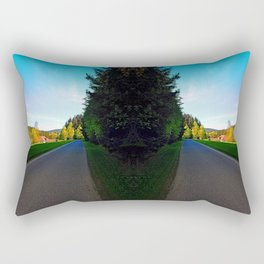 Country road on a spring afternoon | landscape photography Rectangular Pillow