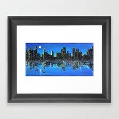 Any Town Cityscape Framed Art Print