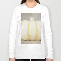 striped Long Sleeve T-shirts featuring Striped  Pumpkin by Pure Nature Photos