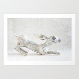 Wooden Rabbit Art Print