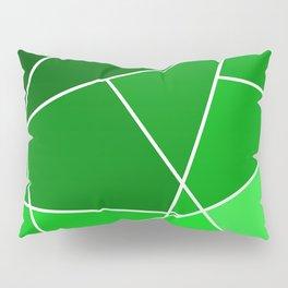 Green Line Pattern Pillow Sham
