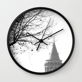 Galata Tower in Istanbul Wall Clock