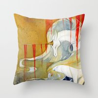 wasted rita Throw Pillows featuring Wasted Dream by Rubis Firenos