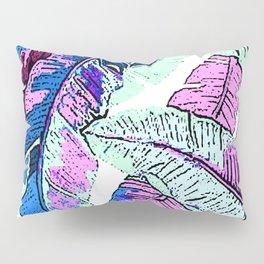 BANANA LEAF PALM PASTEL PINK AND BLUE Pillow Sham