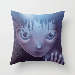 Weird Girl Throw Pillow
