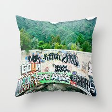 Pit In The Canyon Throw Pillow