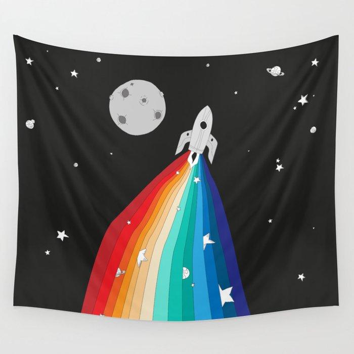 Magic Rocket Wall Tapestry