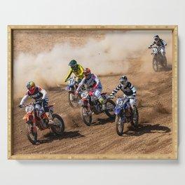 Motocross race Serving Tray