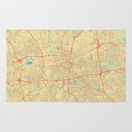 Dortmund Map Retro Rug