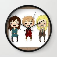 kili Wall Clocks featuring kili cry by Selis Starlight