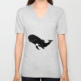 Short-finned pilot whale Unisex V-Neck