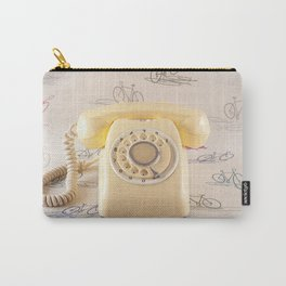 The yellow retro telephone  Carry-All Pouch