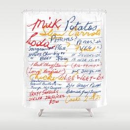 Grandmother's Shopping List Shower Curtain