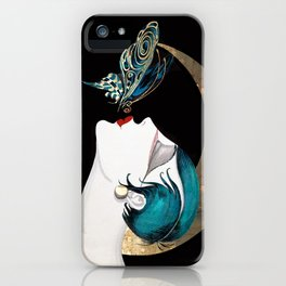 Butterfly Kiss Art Deco Remix iPhone Case