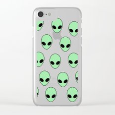 Aliens Tumblr Clear iPhone Case