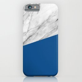 Marble and Lapis Blue Color iPhone Case