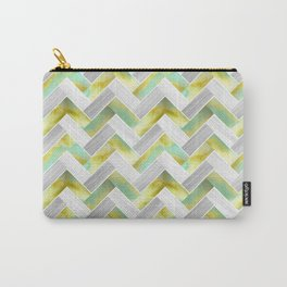 Parquetry in Watercolour - Acid Green Carry-All Pouch