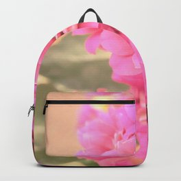 peach colored flower Backpack