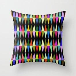 Harlequin loves multicolored rhombus Throw Pillow