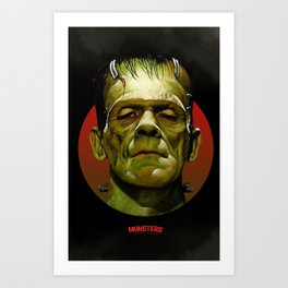 Frankenstein - Scary Movies Art Print