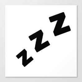 Zzzs in Black Canvas Print